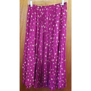 Christian Dior vintage pleated midi skirt size 8